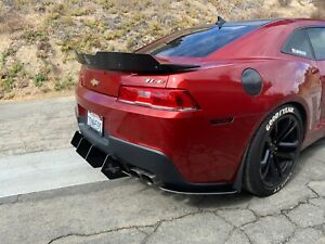 Camaro Hardcore Rear Diffuser That Fits Dual Tip Exhaust 2014 15