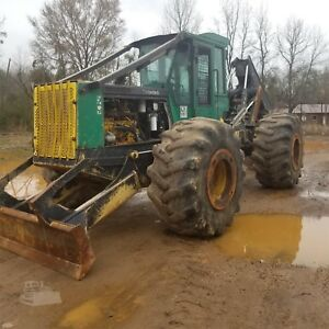 2004 Timberjack 460d Grapple Skidder Dual Arch 30 5 Rubber Sweda Axles