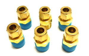 New Lot Of 6 Swagelok 1 2 7 16 Coupling Reducer Brass