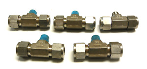 New Lot Of 5 Swagelok 1 2 1 4 Tee Reducer Fitting