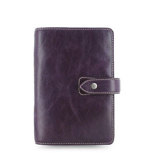 Filofax Personal Size Malden Organiser Planner Diary Purple Leather 025850 Gift