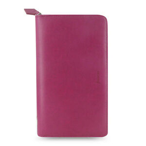 Filofax Compact Zip Pennybridge Organiser Diary Raspberry Leather 028036 Gift