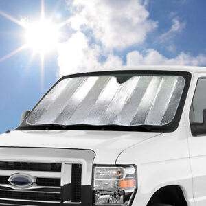 Large Jumbo Size Dual Layer Sun Shade Reversible For Car Truck Suv Windshield