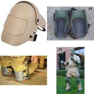 Pro Flex Leg Knee Pads Military Tactical Kneepads Tiling Construction Tan Color