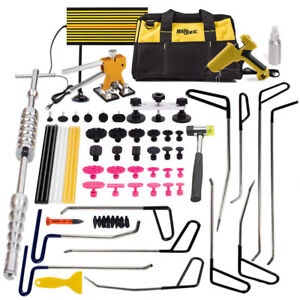 Pdr Tools Removal Hail Puller Rods Paintless Dent Lifter Repair Glues Hammer Kit