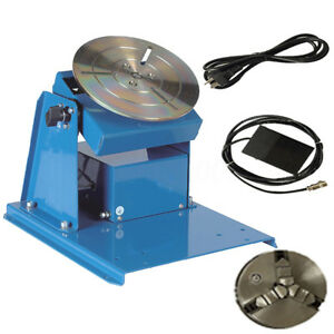 10kg 2 16rpm Light Duty Rotary Welding Positioner Turntable 3 Jaw Lathe Chuck