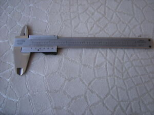Vintage Craftsman Stainless Vernier Caliper West Germany
