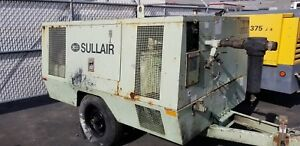 Sullair Model 375 100 Psi 375 Cfm Portable Air Compressor New 2004 6 595 Hrs