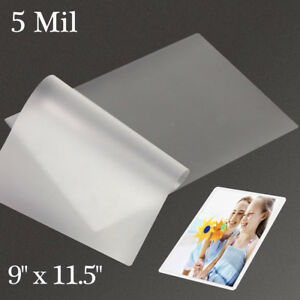 500 5 Mil 9 x11 5 Thermal Letter Laminating Pouches Laminator Letter Size Sheet