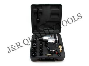 1 2 Air Impact Wrench Gun Kit Sockets W Case