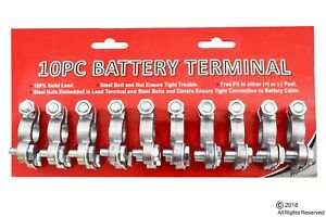 10 Pc Heavy Duty Top Post Truck Battery Terminal Set Universal Car Truck
