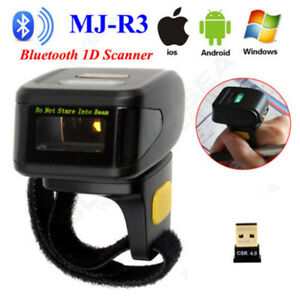 Us Wearable Ring Finger Type Bluetooth Laser Barcode Scanner Reader Andriod ios