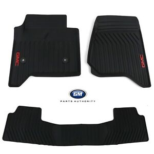 2015 2018 Gmc Yukon Premium All Weather Front 2nd Row Floor Mats Black Oem