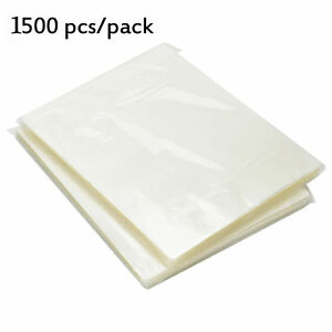 1500 Letter Size Thermal Laminating Pouches 9x11 5 3 Mil Laminator Sheets Clear