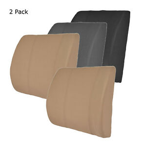 Lumbar Back Support Pain Relief Cushion Office Chair Car Seat Foam Padded X2