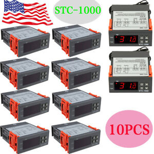 10x Universal Stc 1000 Digital Temperature Controller Thermostat Sensor 110v Bp