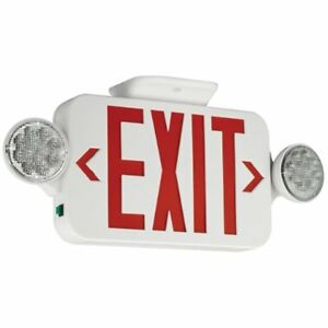 Compass Ccrrc Lighted Exit Signs Hubbell Lighting Led Head Emergency