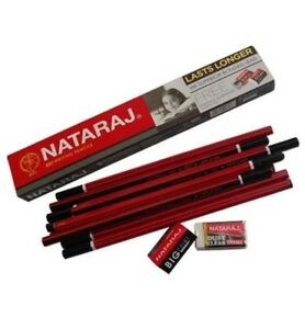 300x Nataraj 621 Writing Pencil Hb With Sharpener Eraser Home School Office