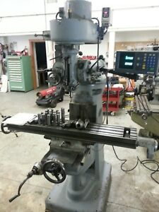 Index 645 Manual Milling Machine Mill Vertical Bridgeport Style 46 X 9 dro