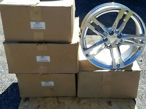New Nos Ford Mustang Boss Gt Shelby 500 Kr Chrome Wheels Rims 2009 10 11 12