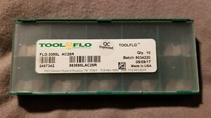 Tool flo Flg 3085 L Ac25r Top Notch Coated Carbide Grooving Inserts 084 Wide
