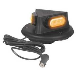 Maxxima M20387ycl Amber clear Lens 8 Round Led Warning Emergency Beacon Light