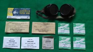 Vintage Smith s Welding Goggles Bakelite In Original Box With Extra Lenses
