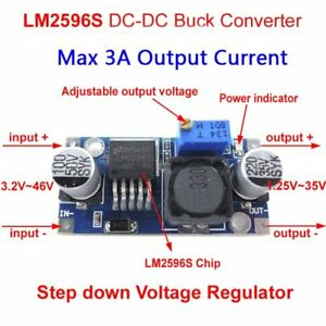 100pcs Lm2596 Dc dc Buck Adjustable Step down Power Supply Converter Module Bp