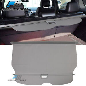 Fits 11 17 Jeep Grand Cherokee Pu Leather Tonneau Retractable Cover Cargo Grey