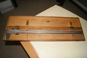 Cse 27 Vernier Caliper Made In Germany Rare W Wooden Case