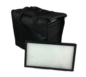 12 Pack Of 8 X 14 X 1 Riker Display Cases Boxes With Black Carrying Case