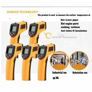 5x Hot Non contact Lcd Ir Laser Infrared Digital Temperature Thermometer Gun Oy