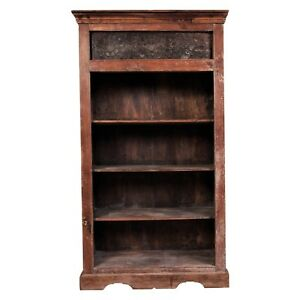 Antique 19th Century Four Shelf Bookcase Bookshelf Cabinet 56211