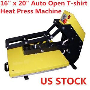 Usa 16 X 20 Auto Open T shirt Heat Press Machine With Slide Out Style