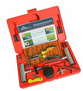 Boulder Tools 56 Pc Heavy Duty Tire Repair Kit For Car Truck Rv Jeep At