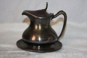Antique 1898 Reed Barton Silver Plate 1575 Footed Teapot Creamer W Lid