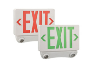 Led Exit Sign Combo With Small Emergency Lights
