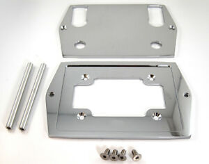 Cnc Chrome Aluminum Smooth Top Optima Group 35 75 Battery Tray Hot Rod