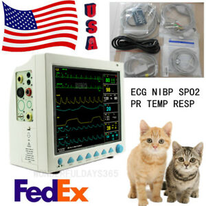 Us 12 1 Color Lcd Veterinary Patient Monitor Animal Ecg Nibp Spo2 Pr Temp Resp