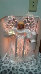 CHRISTMAS FIBER OPTIC TREE TOPPER OR TABLE DISPLAY 10quot; TALL NEW W ORIG BOX