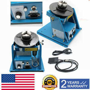 110v Rotary Welding Positioner Turntable Table 2 5 3 Jaw Lathe Chuck 2 10rpm Us