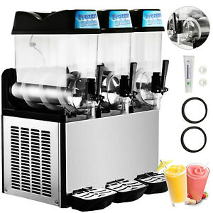 3 Tanks 36l Commercial Frozen Drink Slush Slushy Machine Granita 3 Flavors Iced