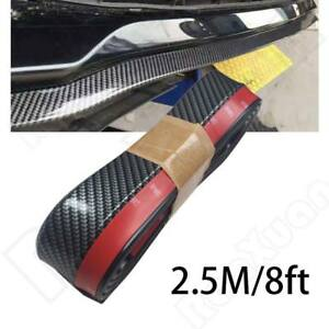 Universal 100 Carbon Fiber Front Bumper Lip Splitter Chin Spoiler Body Kit Trim