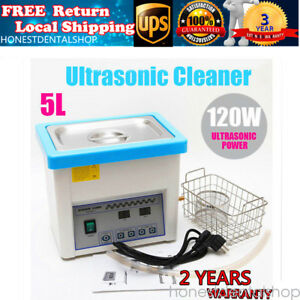 Digital 5l Ultrasonic Cleaner Supplies Jewelry Basket Heater With Timer