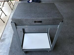 18 X 24 Standridge Granite Surface Plate And Stand With Wheels