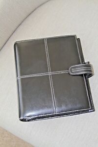 Black Leather Franklin Covey Planner