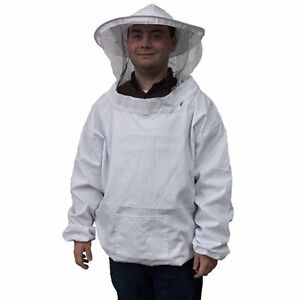 Beekeeping Supplies New Professional White Xl Extra Large Bee Keeping Suit Pull