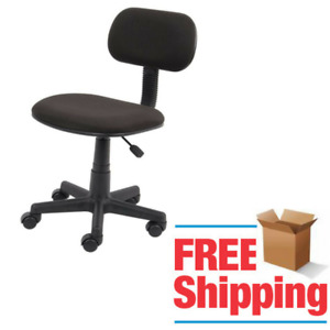 Cushioned Lowback Desk Chair Office Adjustable Height Wheels Caster Rolling Seat