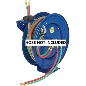 New Spring Rewind Reel For Oxy acetylene 1 4 I d 100 Cap less Hose 200 Psi