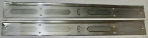 1960 Edsel 2 door Interior Sill Scuff Plates Acid Etched As Original New